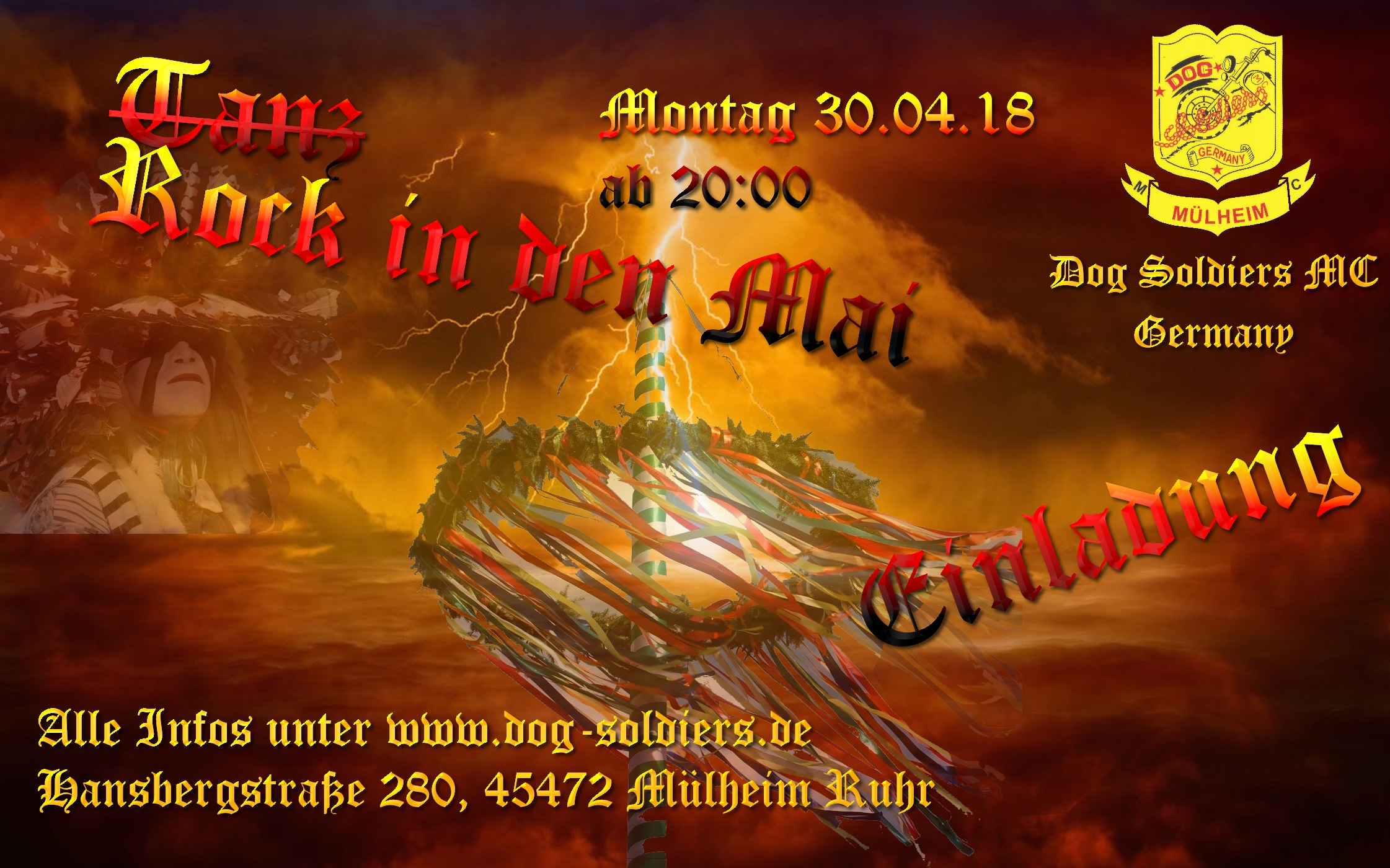 Tanz in den Mai am 30 April 2018