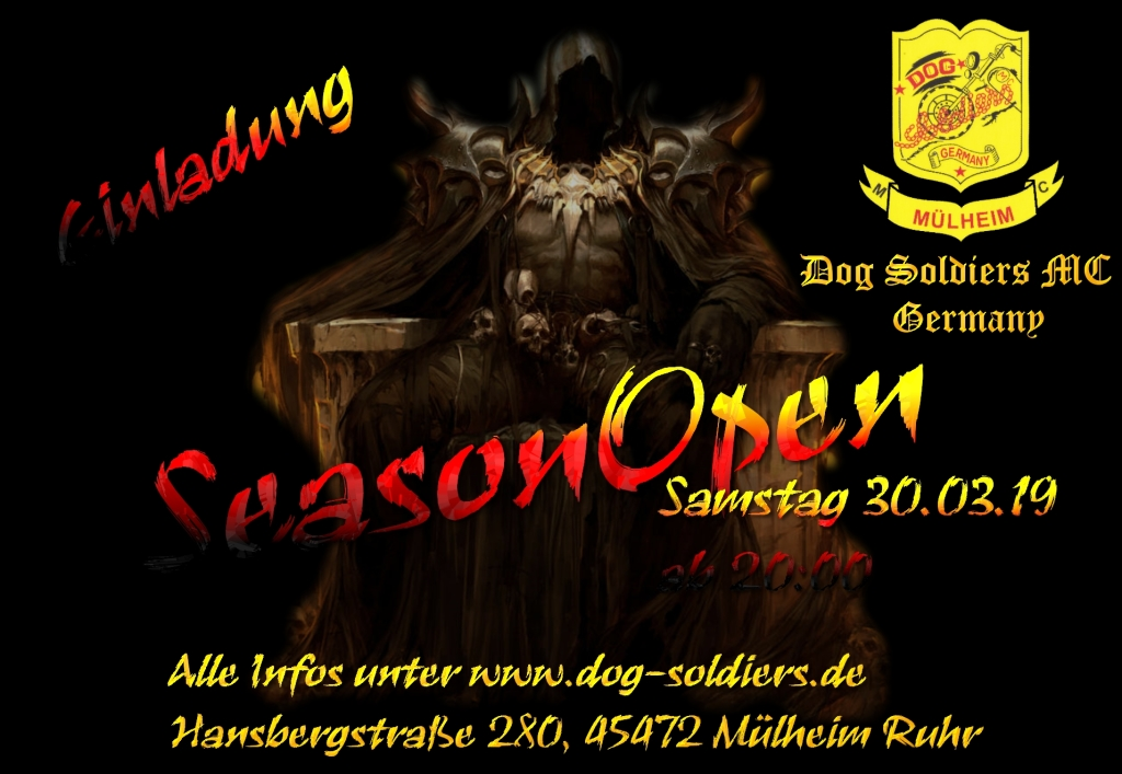 Season Open am 30 März 2019