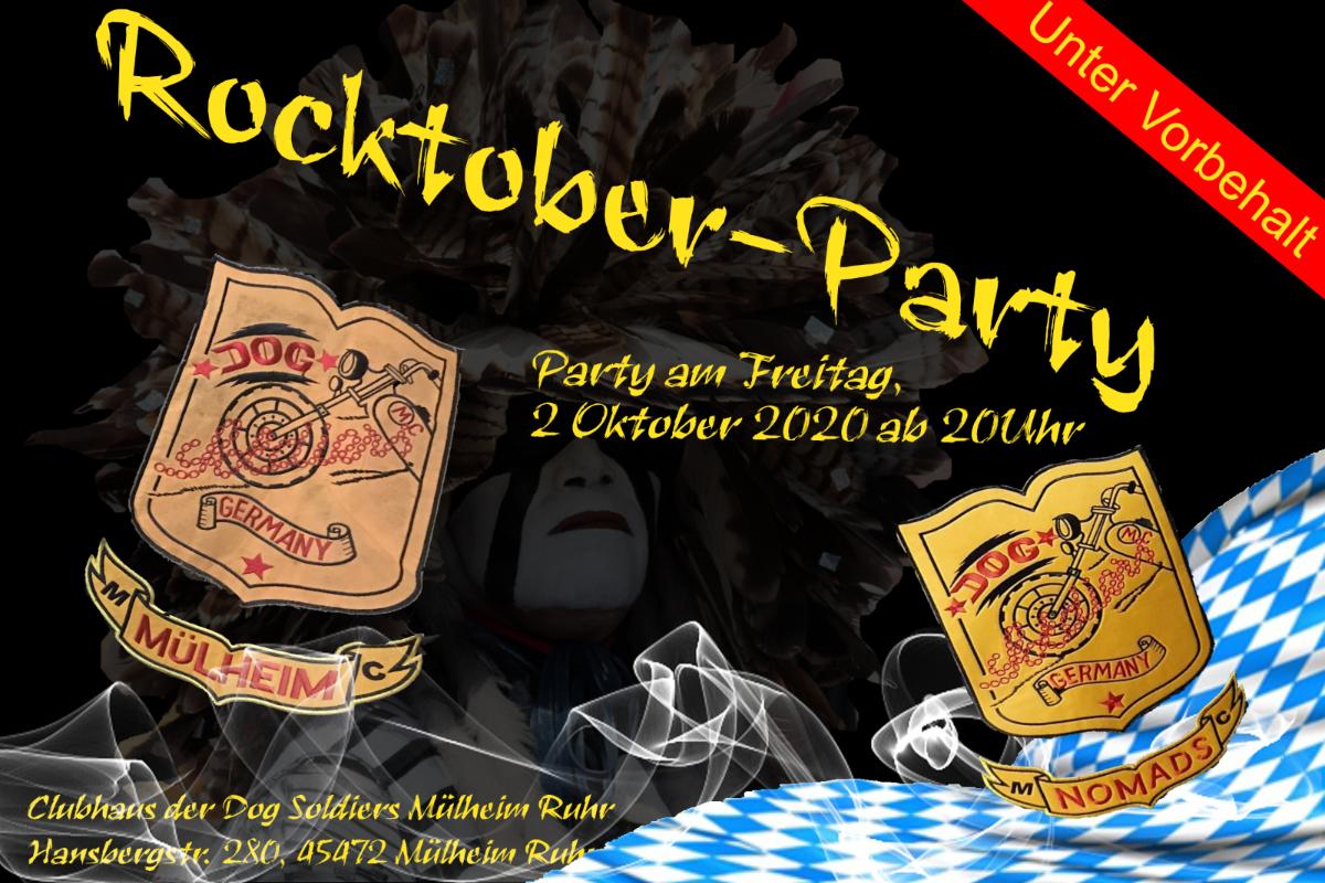 Bayrischer Abend am 2 Oktober 2020 – Rocktober